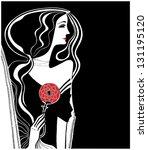 carmen. stylish illustration of ... | Shutterstock .eps vector #131195120