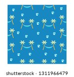 seamless summer with coconut... | Shutterstock .eps vector #1311966479