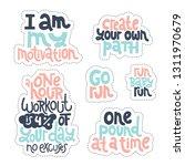 sticker set design template... | Shutterstock .eps vector #1311970679