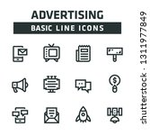 advertisement basic line icons | Shutterstock .eps vector #1311977849