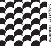 white and black circles... | Shutterstock .eps vector #1311979040