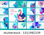 vector character. happy people... | Shutterstock .eps vector #1311982139