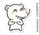 distressed sticker of a cartoon ... | Shutterstock .eps vector #1311985970