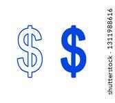 dollar icon. vector illustration | Shutterstock .eps vector #1311988616