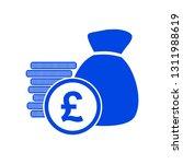 money bag icon | Shutterstock .eps vector #1311988619