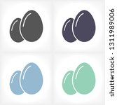 egg icon vector  solid...   Shutterstock .eps vector #1311989006