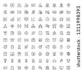 100 thin line icon of business  ... | Shutterstock .eps vector #1311998393
