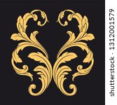 gold ornament baroque style.... | Shutterstock .eps vector #1312001579