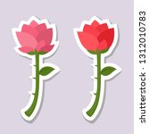 set of vector love romantic... | Shutterstock .eps vector #1312010783