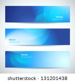 set of abstract vector banners. | Shutterstock .eps vector #131201438