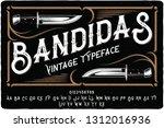 Vintage Font Set Named ...