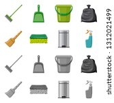 vector design of cleaning and... | Shutterstock .eps vector #1312021499