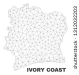 abstract ivory coast map...   Shutterstock .eps vector #1312032203