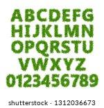 green grass font. lawn texture... | Shutterstock .eps vector #1312036673
