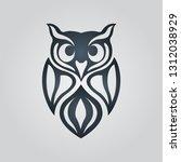 owl logo icon design  vector... | Shutterstock .eps vector #1312038929