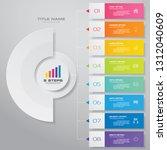 8 steps infographics chart...   Shutterstock .eps vector #1312040609