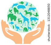 animal green worldhuge... | Shutterstock .eps vector #1312048850