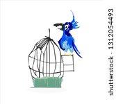 vector trandy flat illustration.... | Shutterstock .eps vector #1312054493