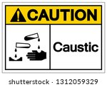 caution caustic symbol sign ... | Shutterstock .eps vector #1312059329