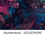 creative fluorescent color... | Shutterstock . vector #1312074290