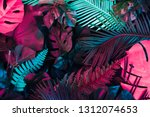 creative fluorescent color... | Shutterstock . vector #1312074653