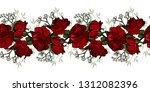 seamless rose pattern. seamless ... | Shutterstock .eps vector #1312082396
