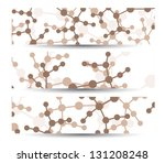 dna banner for your design ... | Shutterstock .eps vector #131208248