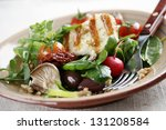 salad with mushrooms spinach...   Shutterstock . vector #131208584