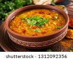 indian dal. traditional indian... | Shutterstock . vector #1312092356