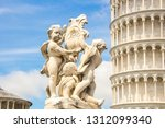 fontana dei putti and leaning... | Shutterstock . vector #1312099340