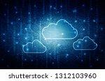 2d rendering cloud computing  | Shutterstock . vector #1312103960