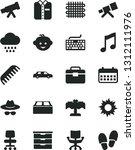 solid black vector icon set  ... | Shutterstock .eps vector #1312111976