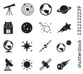 astronomy icons. black flat... | Shutterstock .eps vector #1312122239
