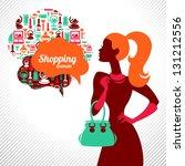 Shopping Woman. Elegant Stylish ...