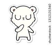 sticker of a peaceful cartoon... | Shutterstock .eps vector #1312131560