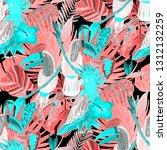 summer exotic seamless pattern. ... | Shutterstock . vector #1312132259