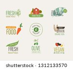 natural label and fresh organic ... | Shutterstock .eps vector #1312133570