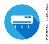 air conditioning icon with long ...