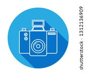 camera icon with long shadow....