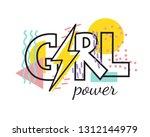 girl power geometric trendy...   Shutterstock .eps vector #1312144979