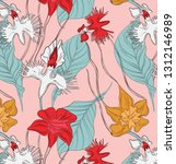 vintage abstract botanical... | Shutterstock .eps vector #1312146989