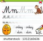 cartoon illustration of writing ... | Shutterstock .eps vector #1312160636