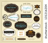 set of vector labels or... | Shutterstock .eps vector #131216204