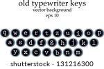 Old Typewriter Keys With All...