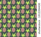 pineapple seamless colorful... | Shutterstock . vector #1312204430
