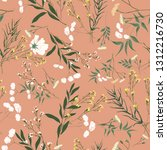 blossom floral seamless pattern.... | Shutterstock .eps vector #1312216730