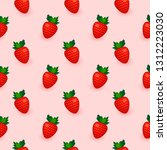 strawberry beautiful seamless... | Shutterstock .eps vector #1312223030