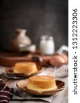 homemade caramel custard... | Shutterstock . vector #1312223306