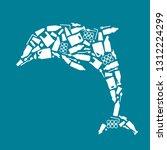 ocean plastic pollution.... | Shutterstock .eps vector #1312224299