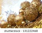gold christmas balls | Shutterstock . vector #131222468